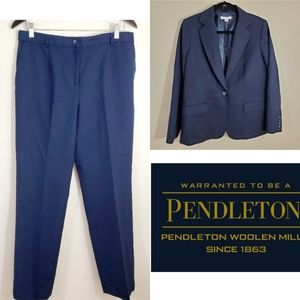 Pendelton Vintage Wool Pants Suit. Size P 12